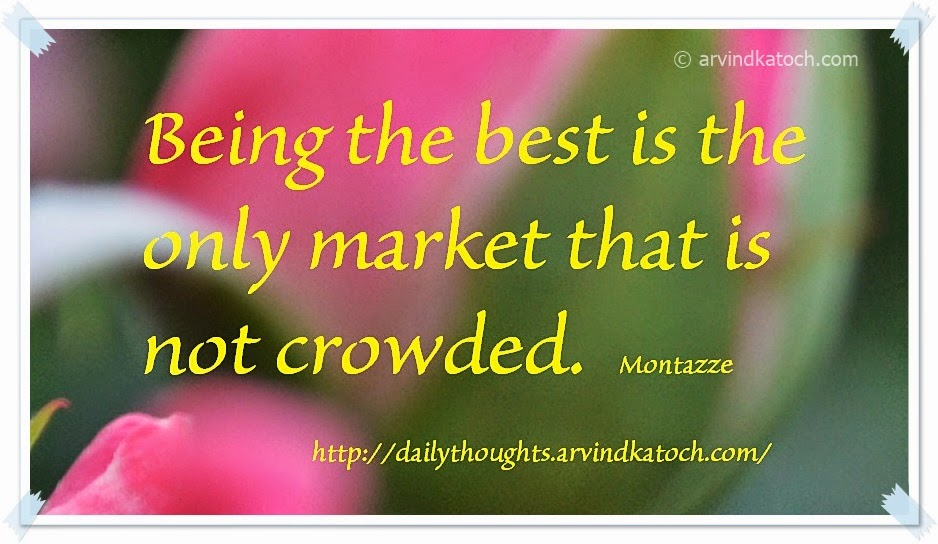 Crowded, being, market, Best Quote, Daily Thought,