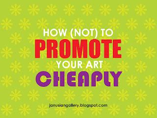 header art for article on promoting artwork