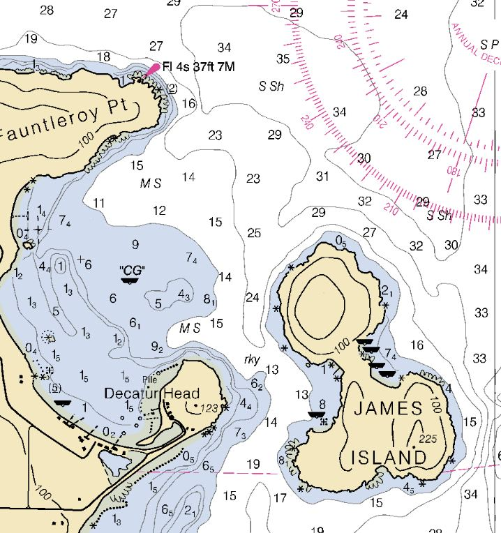James Island Noaa chart