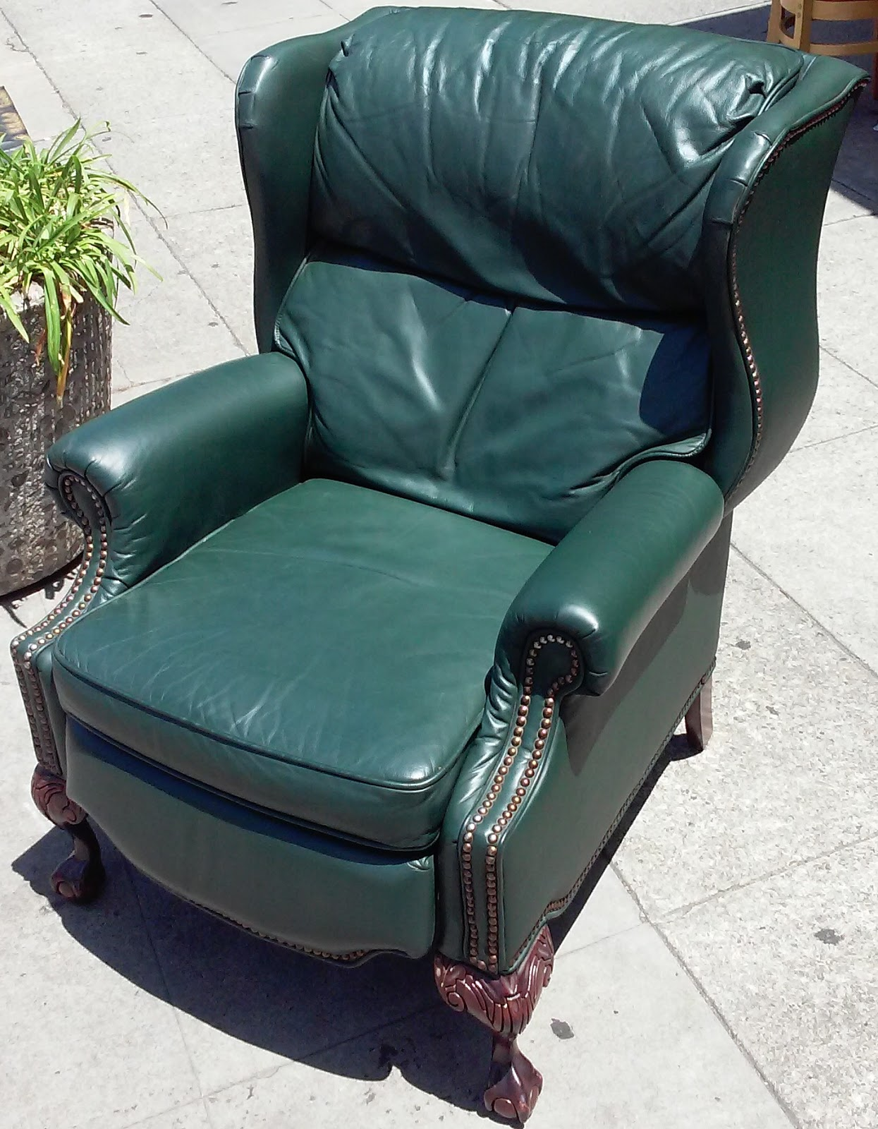 Leather Wingback Chairs South Africa Kitchen Target Uhuru Furniture And Collectibles Sold Barcalounger