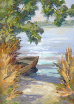 tom brown fine art secluded boat