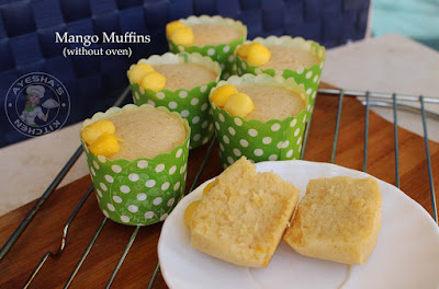mango cupcakes without oven stove top cupcake recipe no bake recipes no oven muffins mango recipes mango muffin without oven