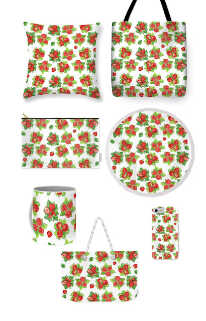 strawberry raspberry acerola pattern
