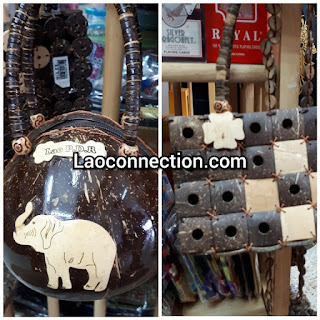 Coconut and bamboo purses