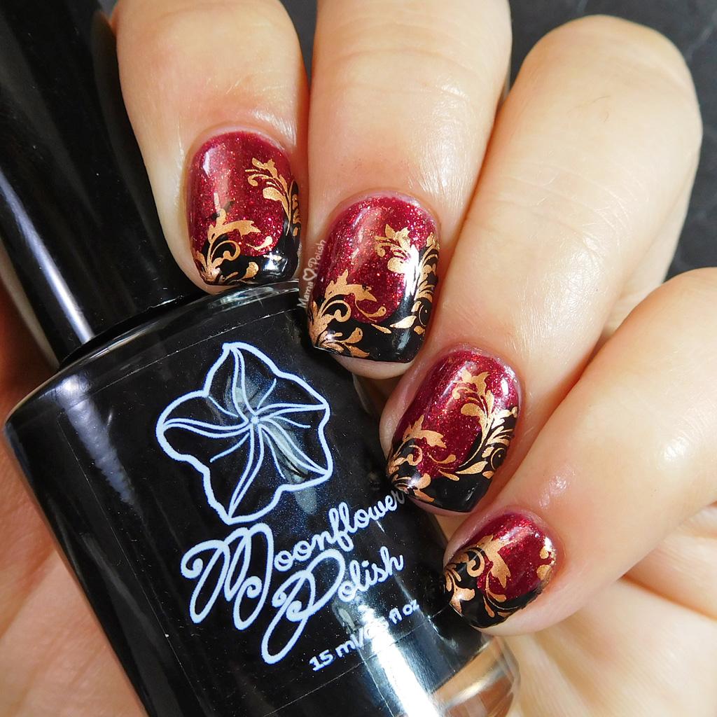 Twirls And Swirls Nail Art Lina Nail Art And Moonflower Polish