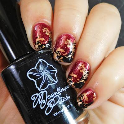 moonflower-polish-noche-lina-nail-art-twirls-swirls-stamping