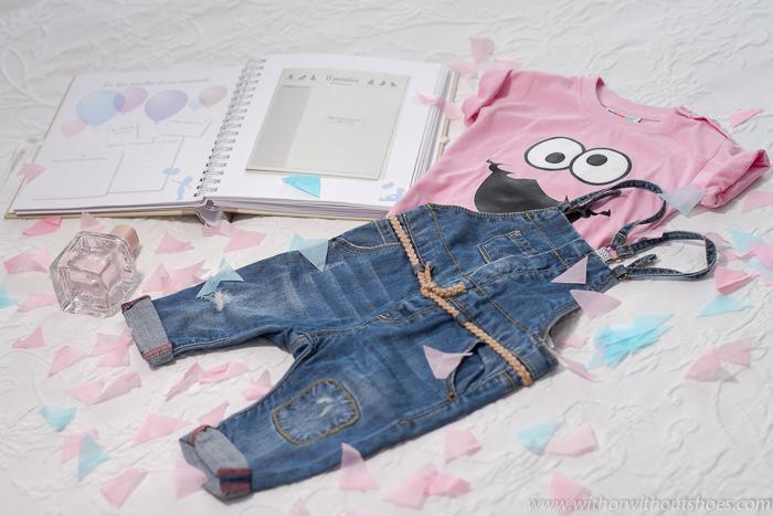 Blogger española embarazada colonia, camiseta y libro del bebe