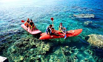 kano di sekitar pulau putri