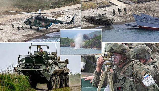 La Russia conduce le più grandi esercitazioni militari per 40 anni vicino alla costa giapponese