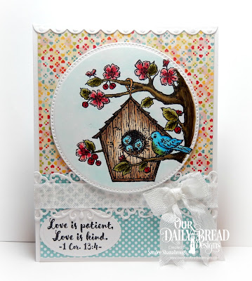 Our Daily Bread Designs Stamp Set: Birdhouse, Our Daily Bread Designs Custom Dies:Flower Lattice, Pierced Circles, Bitty Borders, Ovals, Our Daiy Bread Designs Paper Collections: Birthday Bash, Birthday Brights