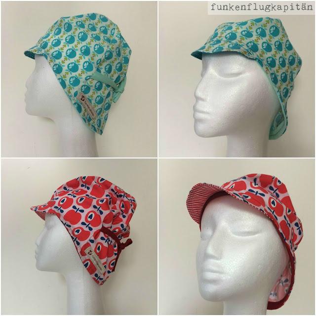 Mütze mit Schirm, Nackenschutz, Baumwolle, nähen