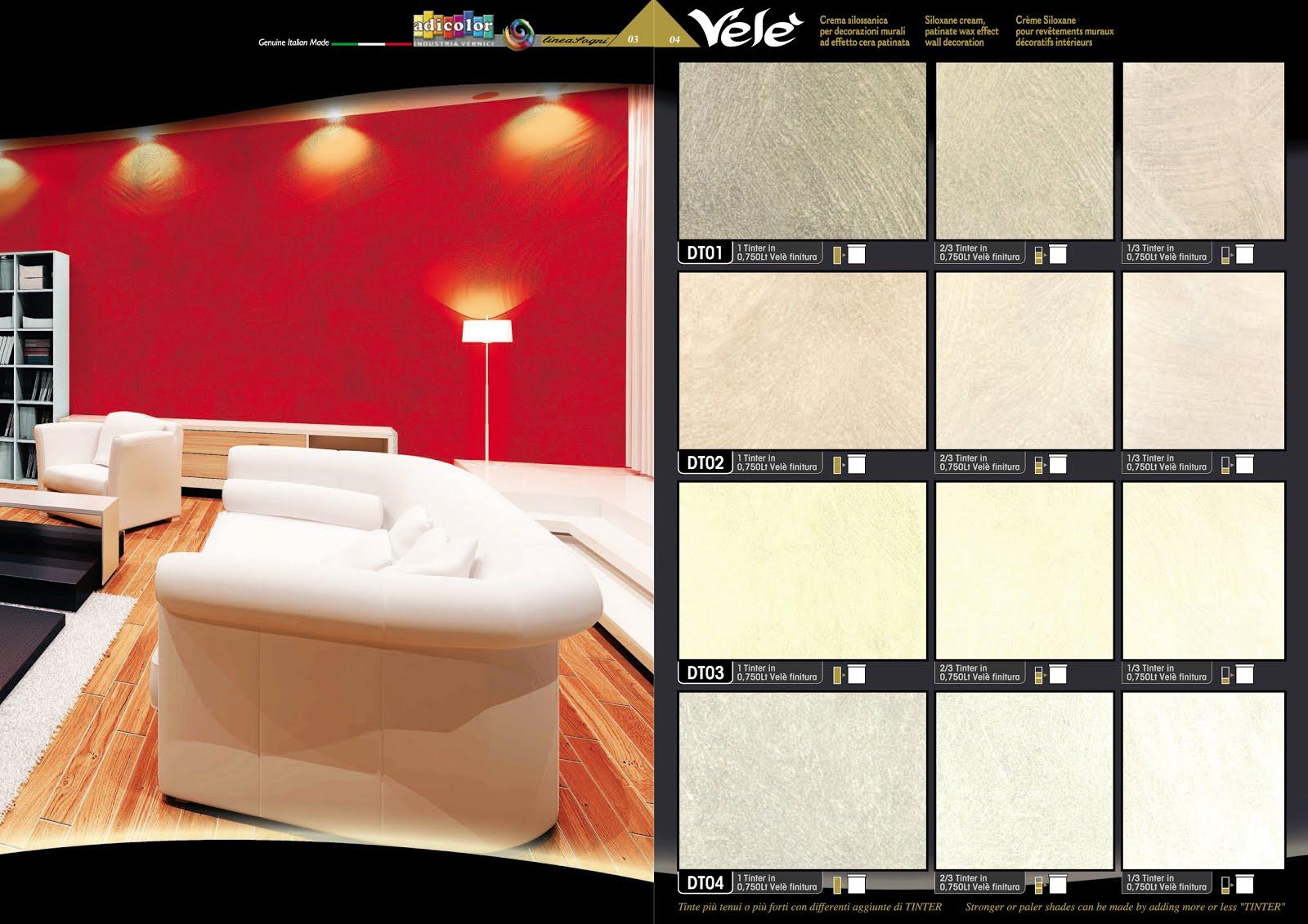Tabelle colori vernici ral, pantone, sikkens: Tabella Colori Pareti Interne