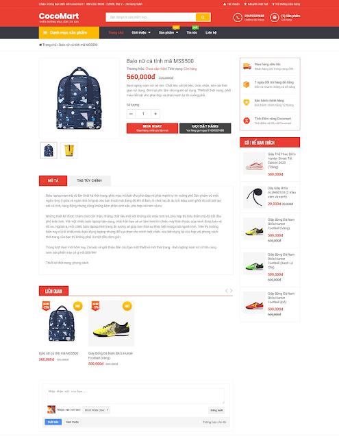Template blogspot bán hàng Cocomart chuẩn SEO - Giaodienblog.com