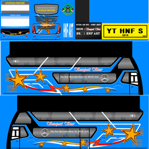 Livery Bussid Sempati Star Biru SDD