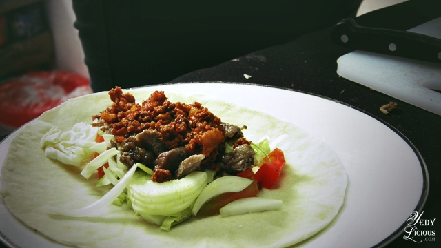 Shawarma with Chorizo by Saddam's Shawarma