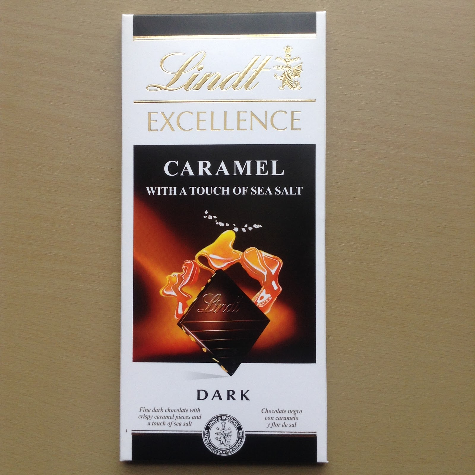 Lindt Excellence Dark Caramel With Sea Salt