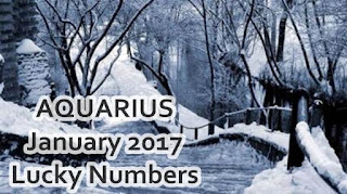 AQUARIUS January 2017 Lucky Numbers Forecast