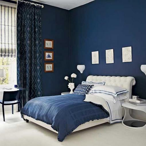 55 Dekorasi Kamar Tidur Sederhana Warna Cat Biru Minimalis