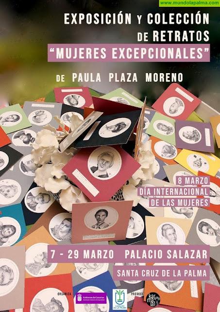 El Cabildo exhibe en la Casa Principal de Salazar la muestra de retratos 'Mujeres excepcionales'