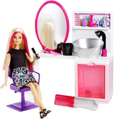 JUGUETES - BARBIE Peluquería purpurina mágica Barbie Sparkle Style Salon Producto Oficial 2016 | Mattel DTK05 | A partir de 5 años Comprar en Amazon España