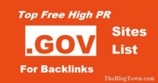 .gov sites to get free gov backlinks