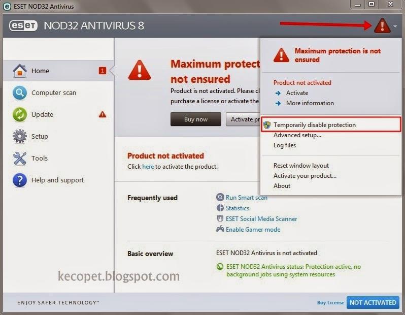 Oke kali ini saya akan membahas sedikit ihwal antivirus eset nod Cara Install Antivirus Eset Plus Activator Lengkap Dengan Gambar 2016