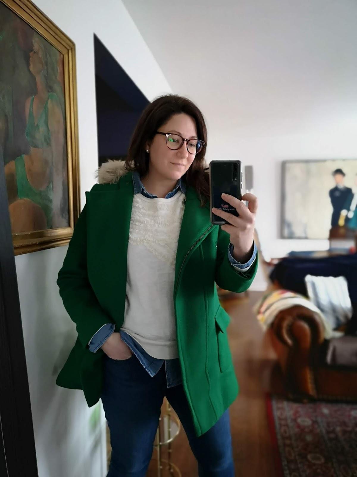 talbots green coat