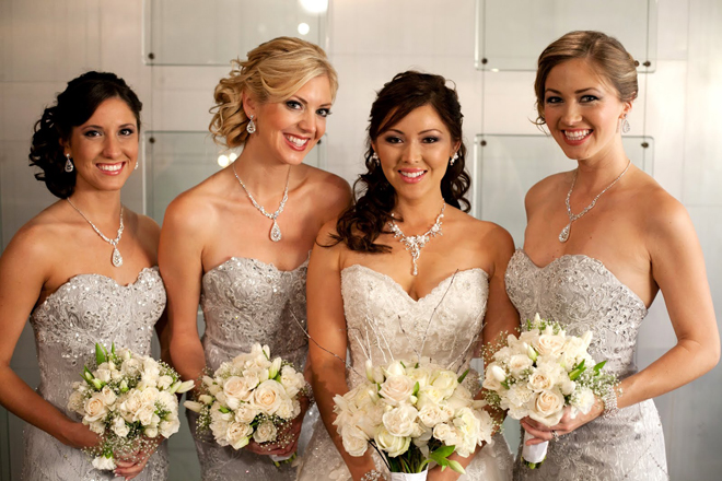 Bridesmaids style sequins and lace belle the magazine for Wedding dress sparkly top