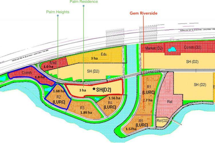 Quy hoạch hạ tầng khu căn hộ gem riverside quận 2