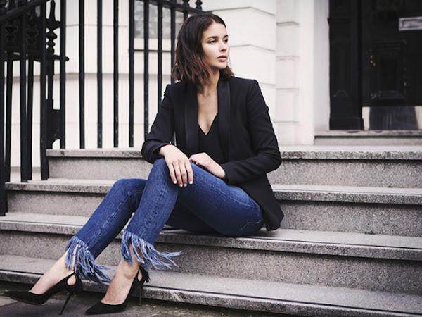 Tendências - Jeans de Bainha Desfiada