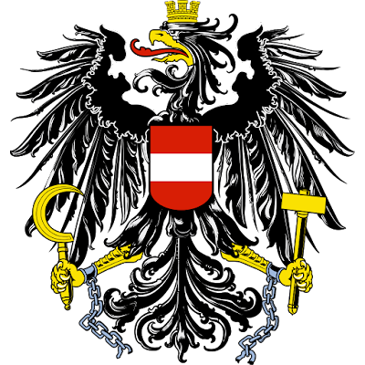 Coat of arms - Flags - Emblem - Logo Gambar Lambang, Simbol, Bendera Negara Austria