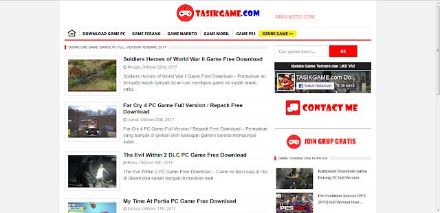 Situs-Situs Download Game PC dan Android Terupdate Dengan Mudah dan Gratis!!! - Maulnotes.com