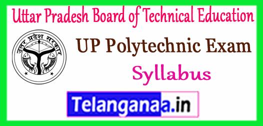 UPBTE Uttar Pradesh Board of Technical Education Syllabus 2018
