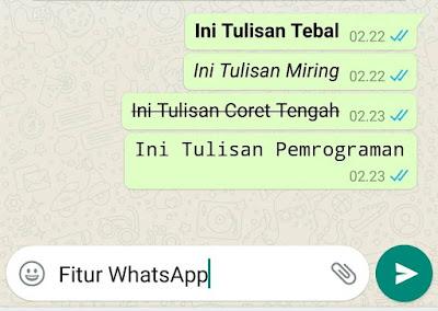 membuat format tulisan whatsapp