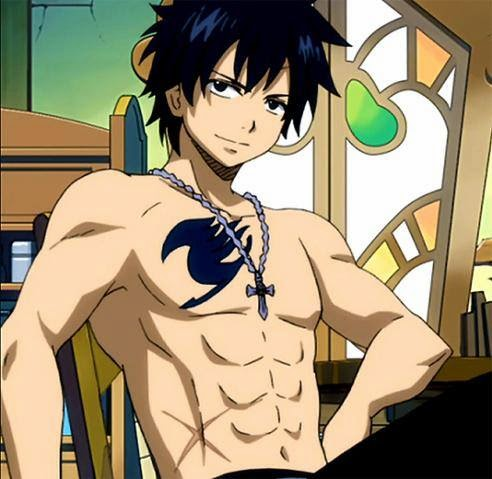 Gray Fullbuster, Fairytail, hottest anime guys, shirtless