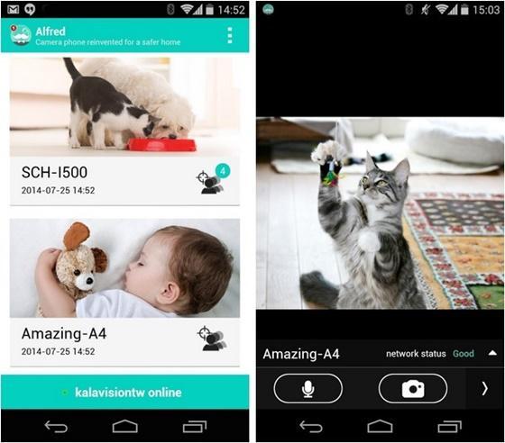 O Alfred Home Security IP Cam é um aplicativo que transforma o seu dispositivo móvel em uma câmera de vigilância