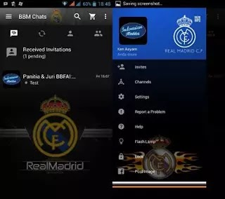 Download BBM Mod Real Madrid