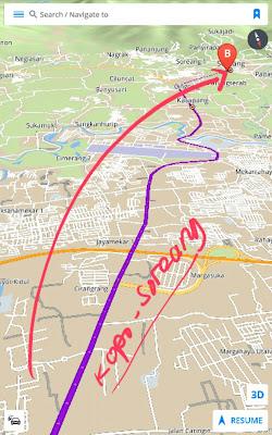 Map, rute, peta, petunjuk, jalan, dari, Kebun Binatang, jalan tamansari, Bandung, ke, Soreang