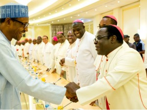 1 President Buhari meets with Catholic Bishops in Aso Rock