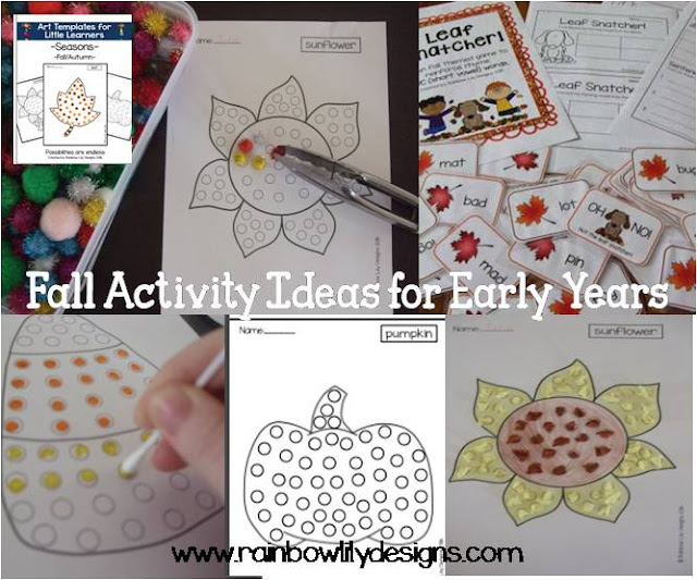 Fall Activity Ideas for Early Years www.rainbowlilydesigns.com