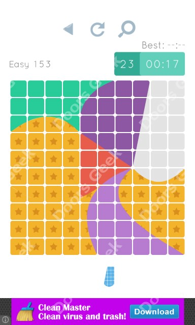 Cheats, Walkthrough for Blocks and Shapes Level 153