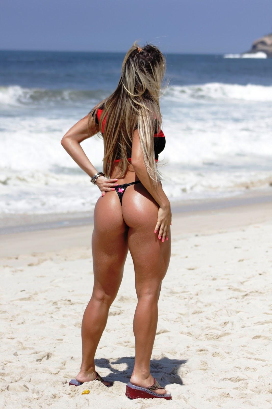 Brazilian women's butts in bikini's
