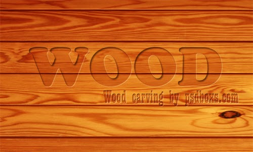 Create a Wood Carving Text In Photoshop