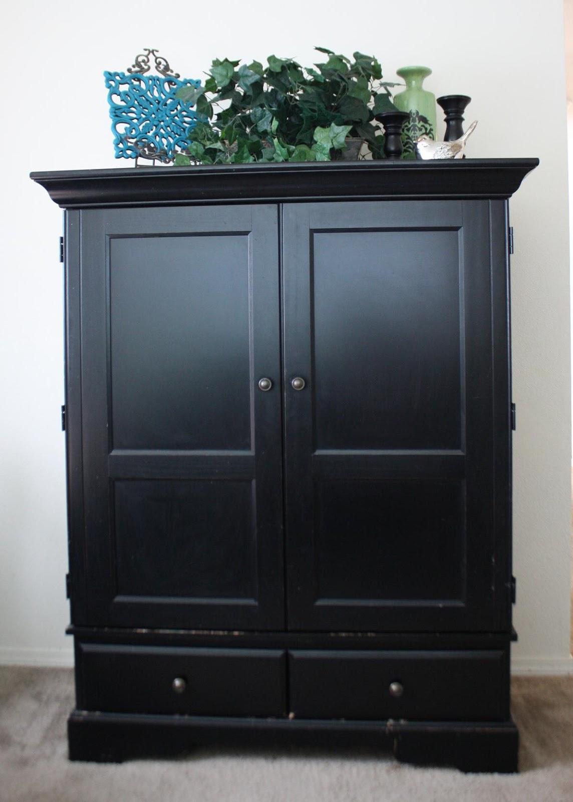4sale Solid Wood Black Tv Armoire 75