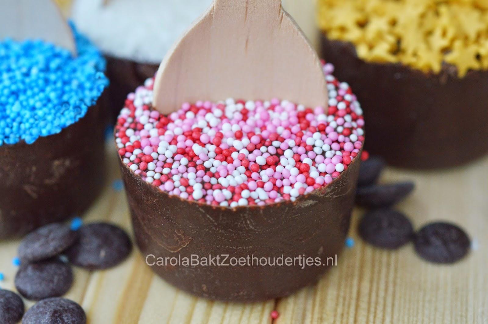 Chocolade (melk) op een stokje