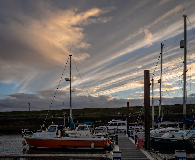 Photo of unusual clouds over Ravensdale (at the far end of the pontoon)
