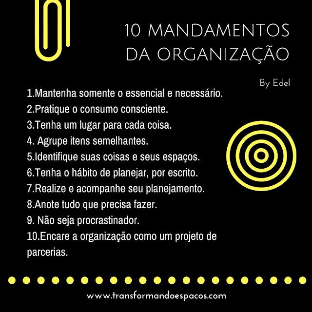 10 mandamentos da organização by Edel
