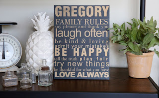Personalized Family Rules Sign from Jane