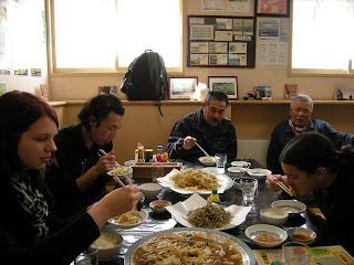 Eating some tempura shrimp!!!