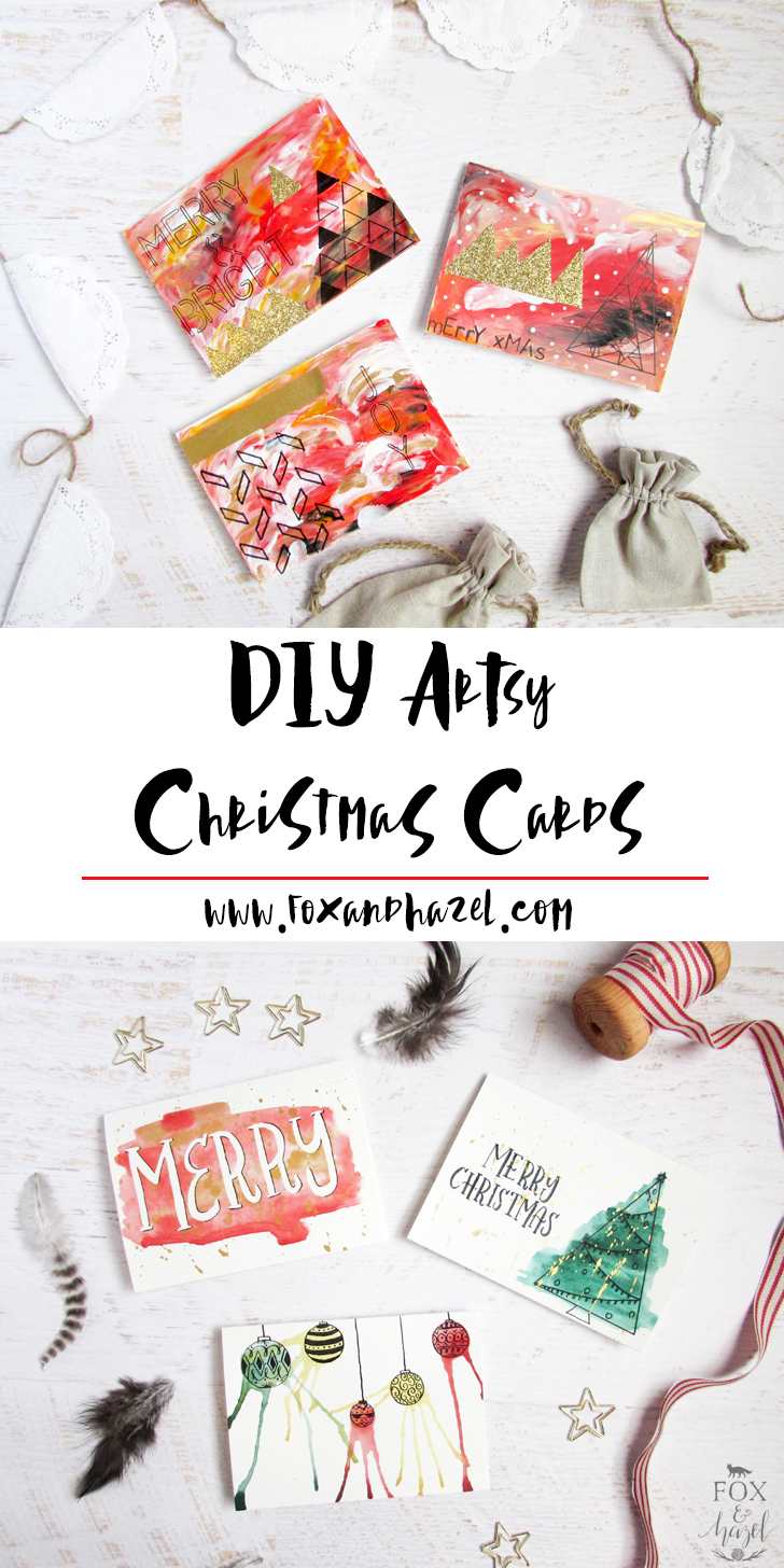 DIY Handmade Artsy Christmas Cards | Fox + Hazel